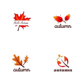 Herfst logo-collectie