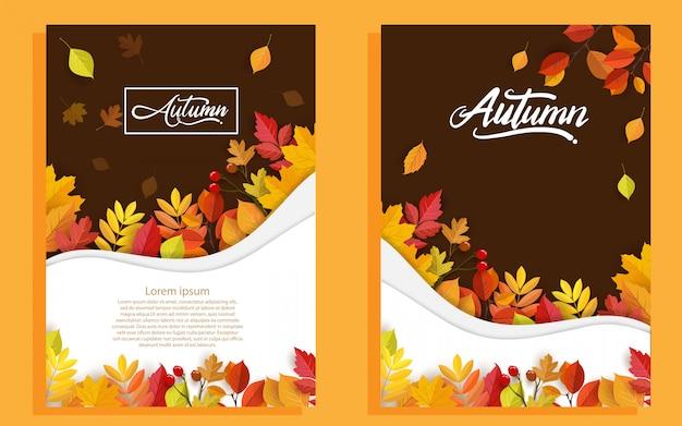 Herfst met mooie bladeren.
