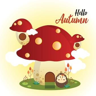 Herfst mushroom house