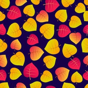 Herfst naadloze achtergrond met esdoorn kleurrijke bladeren. ontwerp voor herfstseizoenposters, inpakpapier en vakantiedecoraties. vector illustratie