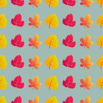Herfst naadloze achtergrond met kleurrijke bladeren. ontwerp voor herfstseizoenposters, inpakpapier en vakantiedecoraties. vector illustratie