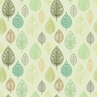 Herfst naadloze blad patroon