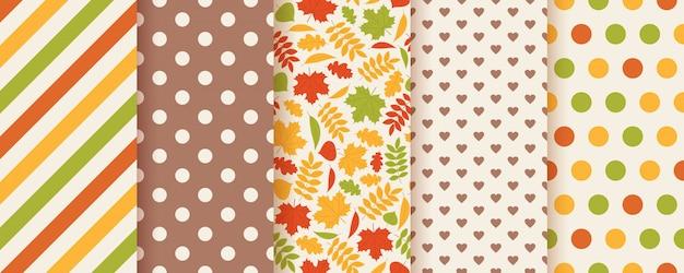 Herfst naadloze patroon met herfstbladeren.