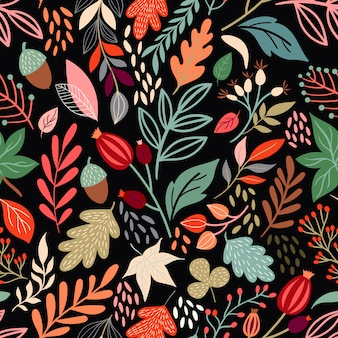 Herfst naadloze patroon met seizoensgebonden ontwerp