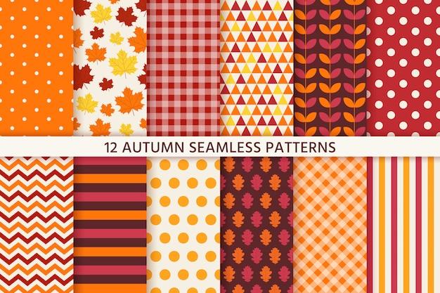 Herfst naadloze patroon. vector. achtergrond met herfstbladeren.