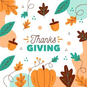 Herfst ontwerp thanksgiving achtergrond