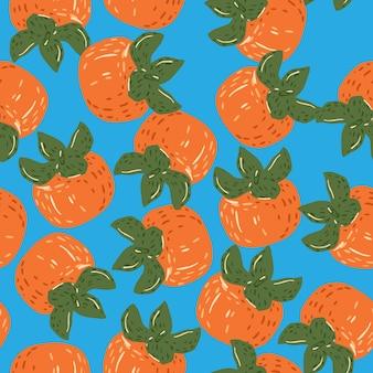 Herfst oogst naadloze willekeurig patroon met oranje kaki