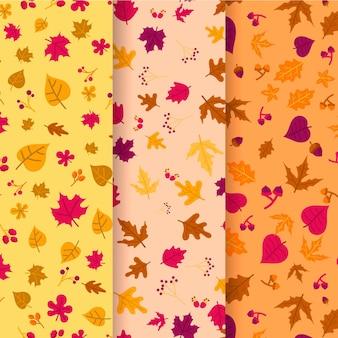 Herfst patroon collectie tekening