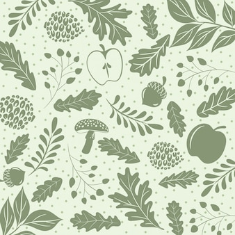 Herfst patroon van blad en fruit