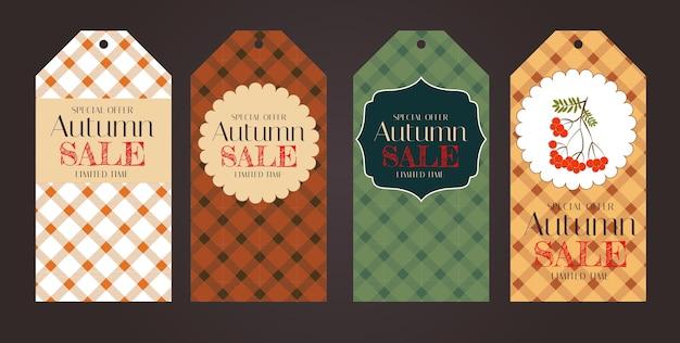 Herfst quotes labels sjabloon met bladeren voor thanksgiving