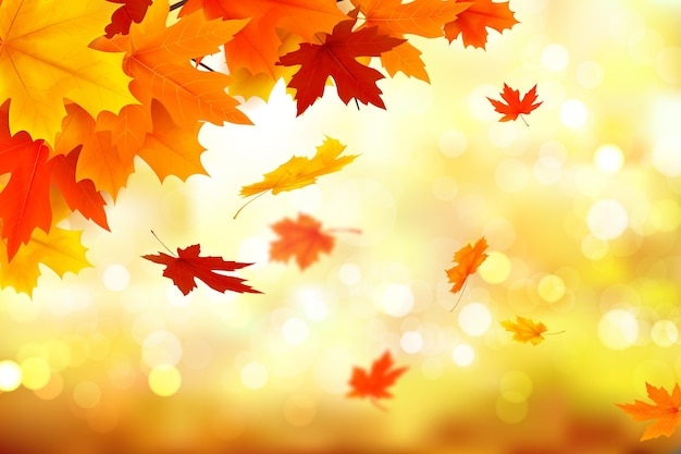 Herfst realistische achtergrondthema