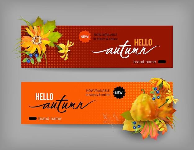 Herfst reclamebanner