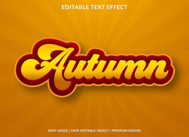 Herfst retro teksteffect