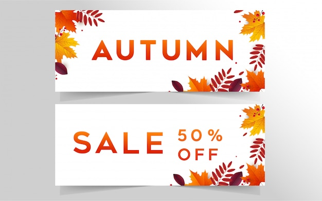 Herfst sale banner collectie