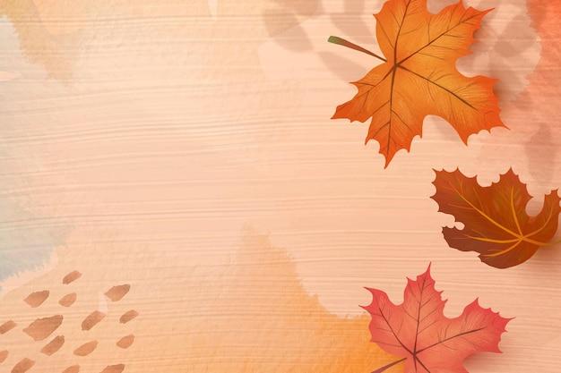 Herfst seizoen achtergrond vector met esdoorn bladeren