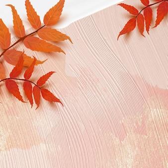 Herfst seizoen achtergrond vector met sumak bladeren