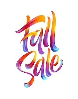 Herfst seizoen hand belettering fall sale