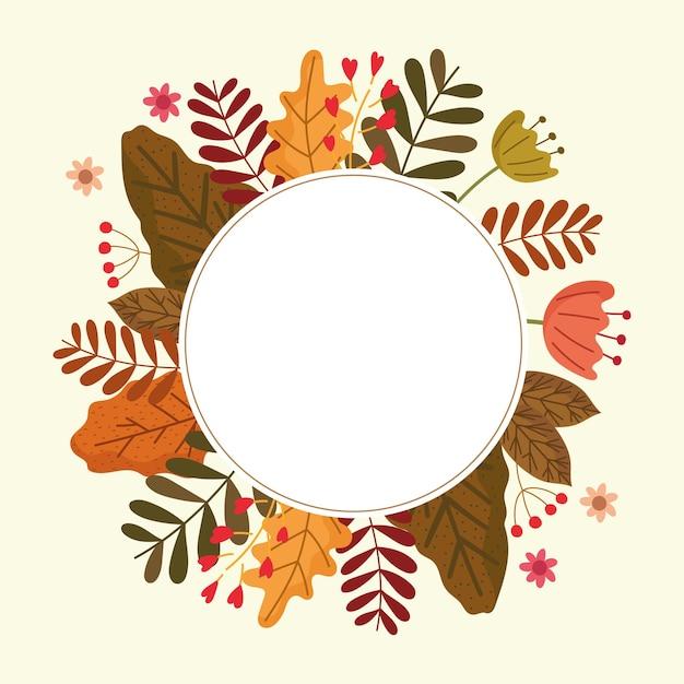 Herfst seizoen label