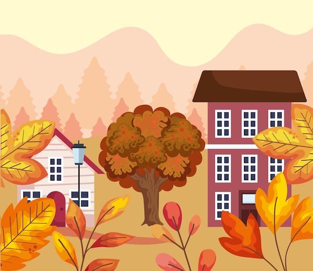 Herfst seizoen landschap
