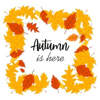 Herfst seizoen ontwerp met lichte achtergrond vector