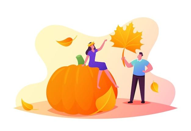 Herfst seizoen recreatie illustratie