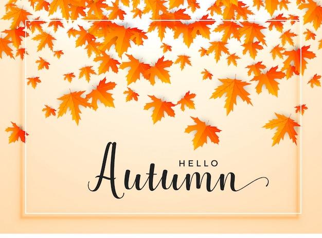 Herfst seizoensgebonden achtergrond met vallende bladeren
