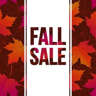 Herfst seizoensgebonden bannerontwerp. fal blad. vector illustratie eps10