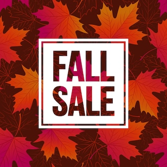 Herfst seizoensgebonden bannerontwerp. fal blad. vectorillustratie eps10