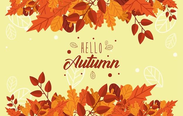 Herfst seizoenskaart
