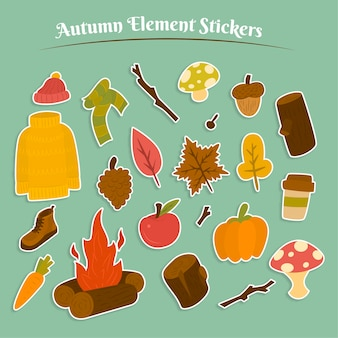 Herfst sticker collectie