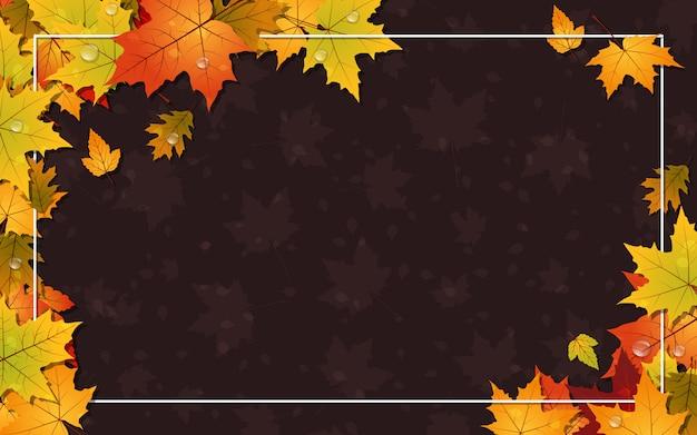 Herfst stijl achtergrond