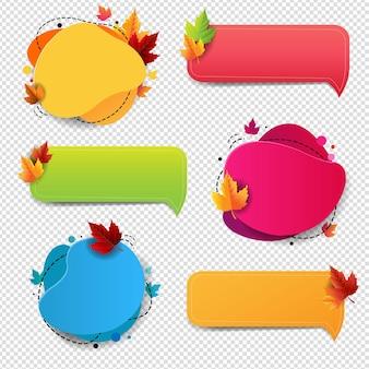 Herfst tekstballon geïsoleerd transparante achtergrond