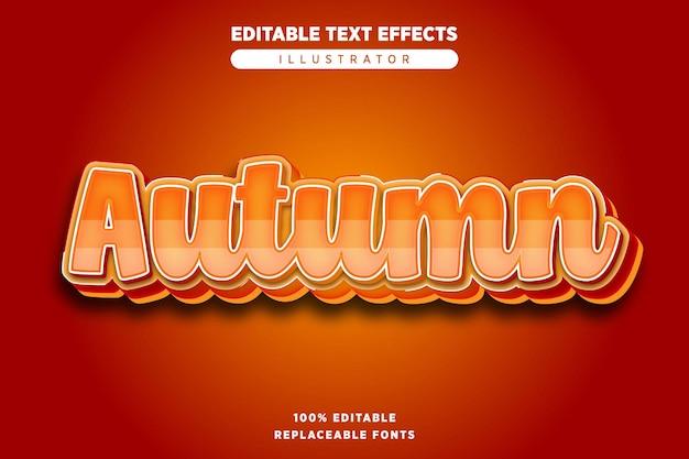 Herfst teksteffect bewerkbaar