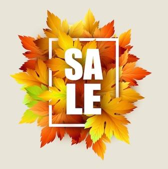 Herfst typografische. blad vallen. vectorillustratie eps 10