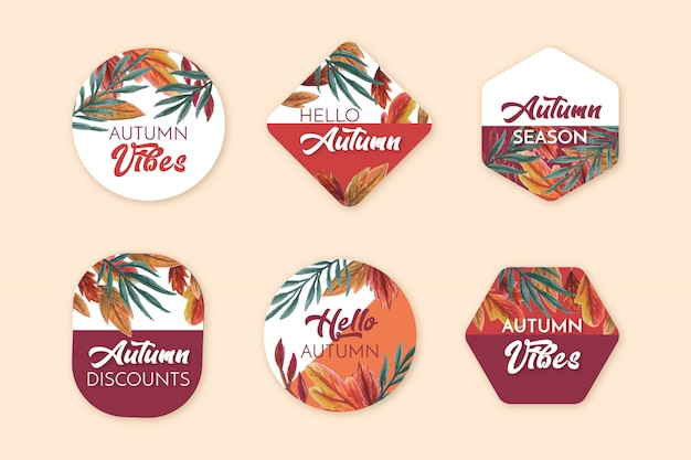 Herfst uitverkoop badges