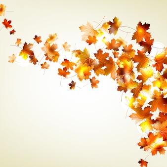 Herfst vallende bladeren achtergrond.