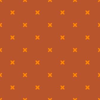 Herfst vector naadloze patroon. eindeloze textuur voor behang, vulling, webpagina-achtergrond, textuur. set van halloween en thanksgiving geometrische sieraad. oranje en witte kleuren