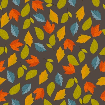 Herfst vector naadloze patroon.