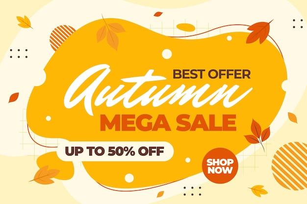 Herfst verkoop achtergrond