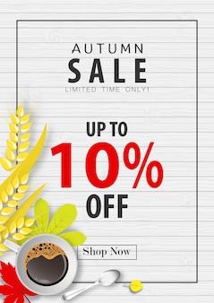 Herfst verkoop banner achtergrond