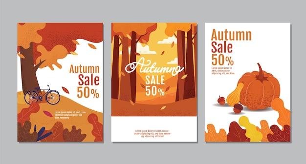 Herfst verkoop banner set