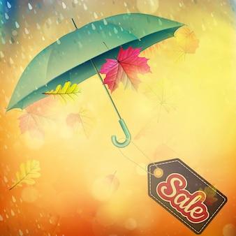 Herfst verkoop banner.