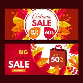 Herfst verkoop bannerontwerp