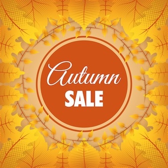 Herfst verkoop circulaire seizoensgebonden frame