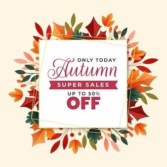 Herfst verkoop gekwadrateerde banner