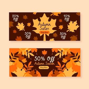 Herfst verkoop horizontale banners