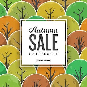 Herfst verkoop kaartsjabloon ontwerp
