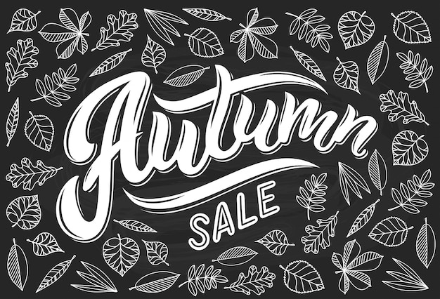 Herfst verkoop kalligrafie belettering