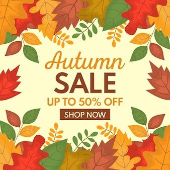 Herfst verkoop ontwerp