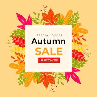 Herfst verkoop sjabloon thema